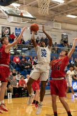 Chillicothe's Jayvon Maughmer takes it to the rim Tuesday night at Chillicothe High School against Fairfield Union.