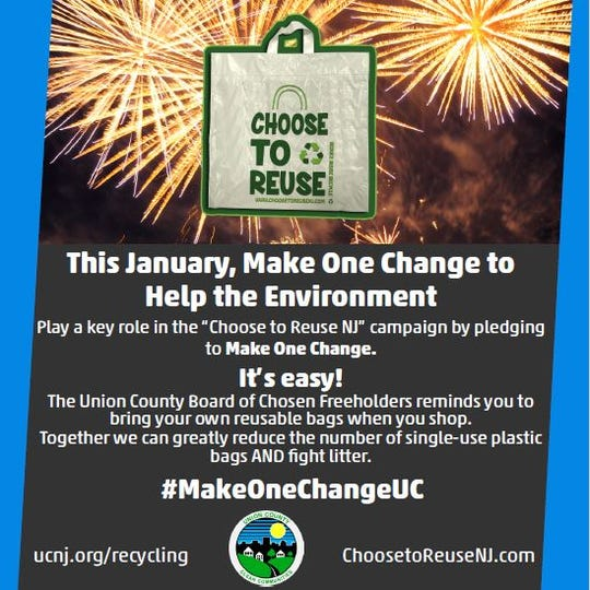The Union County Board of Chosen Freeholders encourages everyone who lives, visits, or works in Union County to bring reusable bags to the grocery store instead of using single-use plastic bags.