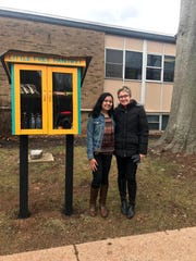 The creation of Hillsborough High School sophomore Shailee Shah, 15, with Bridgewater and Somerville YMCA branch Executive Director Kate Russo, the Little Free Pantry on the grounds of the Greater Somerset County YMCA in Somerville aims to help alieviate food insecurity and waste though the creation in communities.
