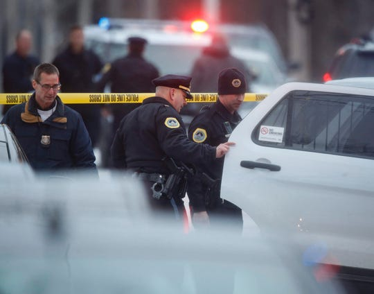 Police work the scene of a fatal shooting on the 2700th block of 51st Street in Des Moines on Wednesday, Jan. 15, 2020.