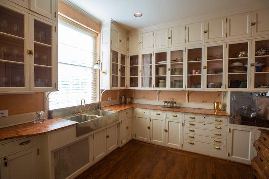 Wood floors in the butler's pantry.