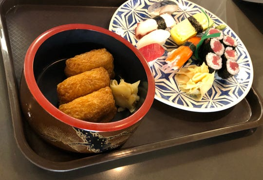 A plate of sushi at Noble Fish Sushi and Market in Clawson