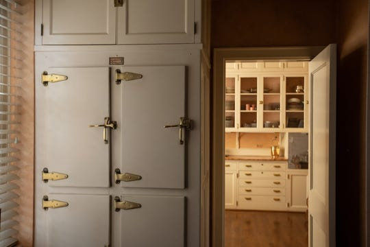 One wall of the butler's pantry holds the original Chrysler & Koppin refrigerator. Like most of the mansion, it's been maintained by the three previous owners. The late former owners used it to cool wine and other beverages.
