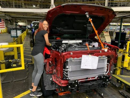 Chantese Wortham is one of the many GM employees who transitioned recently from temporary to regular full-time employment at Flint Assembly.