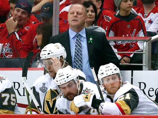 Gerard Gallant, who played nine seasons with the Red Wings, was fired Wednesday as the Vegas Golden Knights coach.
