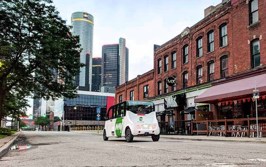 May Mobility is an Ann Arbor-based operator of self-driving shuttle buses.