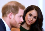 Britain's Prince Harry and Meghan, Duchess of Sussex.