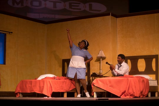 "Derek Lively and Sonya McCarter star in ""The Mountaintop"" by Katori Hall, which is directed by Rick Sebastian. The play takes place in Martin Luther King Jr.'s room in the Lorraine Motel on April 3, 1968, his last night alive right after he delivered his ""I've Been to the Mountaintop"" speech."