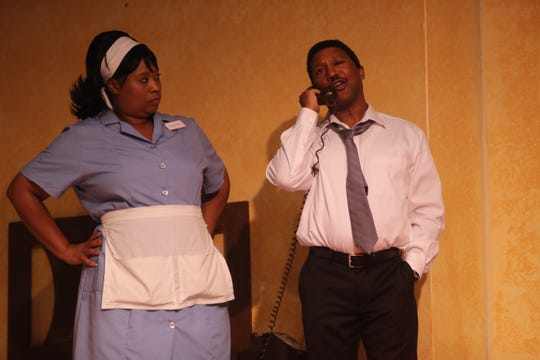 """Theatre Conspiracy's """"The Mountaintop"""" imagines Martin Luther King Jr.'s last night alive and is set in his room at the Lorraine Motel."""
