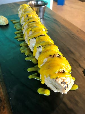 The cookie dough sushi roll from Marlins Brewhouse in Estero.