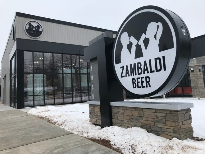Good Dog Porter and five other Zambaldi beers will be tapped in the brewery's taproom when it opens its doors Tuesday.