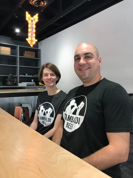 Zambaldi Beer owners Abby and David Malcolm plan to open the taproom Tuesday and are planning a grand opening celebration in early February.