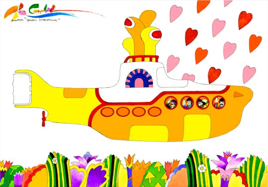 "Animator Ron Campbell worked on the Beatles' animated film ""Yellow Submarine."""