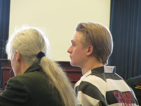 Jadon Tayte Jennings awaits sentencing for rape Wednesday, Jan. 15, 2020.