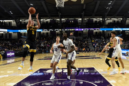 CJ Fredrick's ability to take smart shots and extend defenses is critical for the Luka Garza-Joe Wieskamp-powered Hawkeyes. He scored 11 points in Evanston.