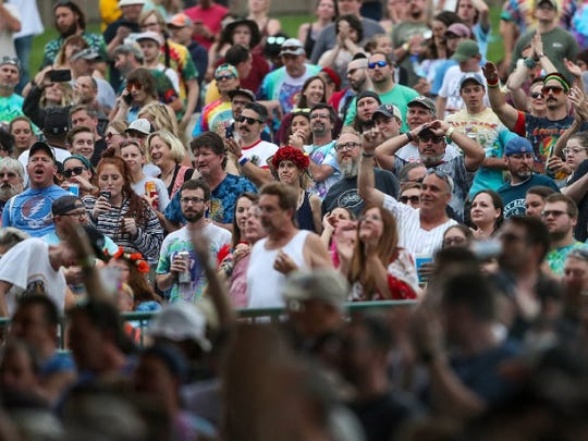 Fans of Dead & Company packed the lawn at Ruoff Music Center on June 12, 2019.