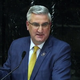 Indiana Gov. Eric Holcomb addresses teacher pay and education in his 2020 State of the State address at the Indiana Statehouse in Indianapolis on Jan. 14, 2020.