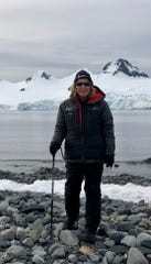 While in Antarctica, Terri Jump participated in zodiac cruises and hikes, and visited global research stations.