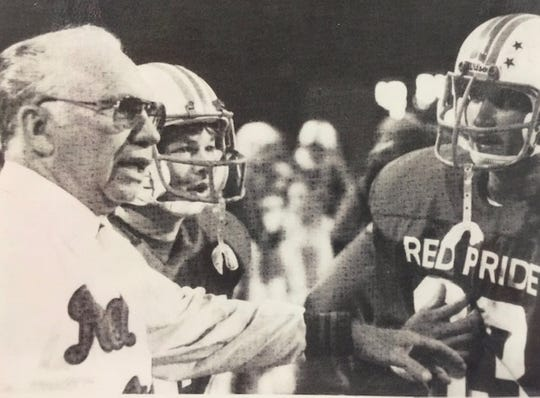 "Plainfield began wearing ""Red Pride"" on its uniforms during Kermit Davis' tenure from 1970-86."