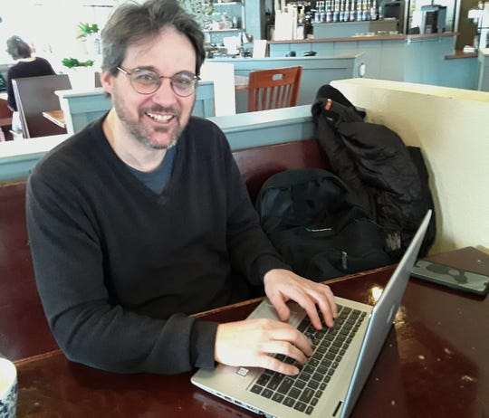 Coffee shops are popular writing places for guys like Matt Falduto, one of six local playwrights given 12 hours to script a ten-minute play for presentation in Coralville this weekend. It's the ninth All in a Day Play Festival to be held in the Iowa City area.