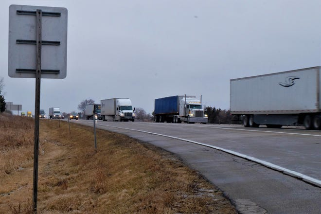 Interstate 80 was backed up for hours early on the morning of Wednesday, January 15, 2020.