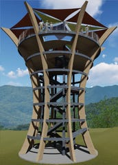 A rendering shows Anakeesta's new observation tower, which will open in the summer.