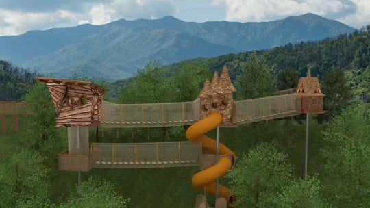 This Tennessee mountaintop theme park expansion includes a treehouse adventure course