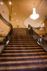 The staircase that leads from the lobby to the second floor inside the Holiday Inn Lafayette-City Centre, Wednesday, Jan. 15, 2020 in Lafayette.