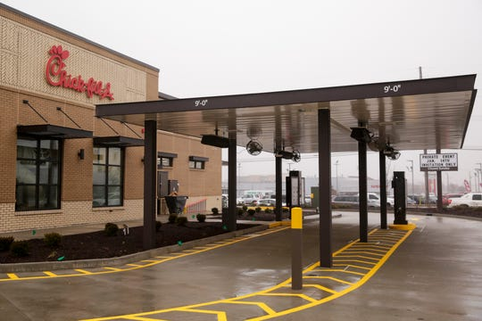 Chick-fil-A, 50 N Creasy Lane, features two drive-thru order lanes, Wednesday, Jan. 15, 2020 in Lafayette.