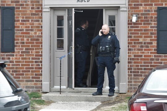 Lafayette police secured three locations inside Cambridge Estates Apartment complex after a stabbing Tuesday, Jan. 14, 2020. This is the scene on the south end of Richmond Court about 1:30 p.m. Tuesday.