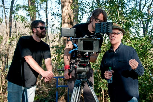 Director Pat Mire frames up a shot With cinematographer Eric Hueber and assistant director Andy Cope. The 15th annual Cinema on the Bayou Film Festival, which begins Jan. 22, brings hundreds of filmmakers from around the world to Lafayette and Acadiana.