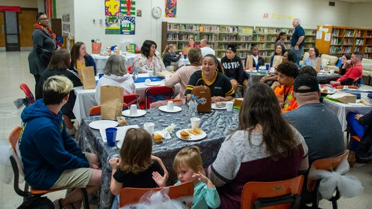 Carencro Middle held a Leader in Me breakfast with students Friday, Jan. 10, 2020.