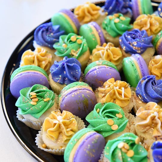 Bonne Vie Macarons, a locally owned and ran business, has king cake macarons, tarts and platters galore.
