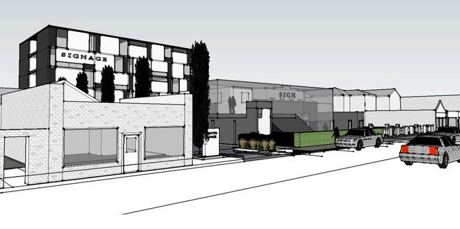 A design for Hensley Hotel and Bar.