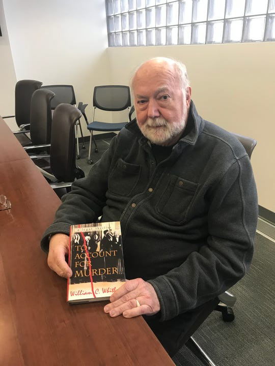 "Retired Michigan Court of Appeals Judge William Whitbeck studied the 1945 assassination of state Sen. Warren G. Hooper. Whitbeck penned a novel loosely based on the murder in 2010, ""To Account for Murder."""