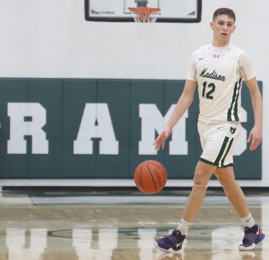 Madison's Dylan Metz leads a defensive Ram effort as they come in at No. 10 in the Richland County Boys Basketball Power Poll.