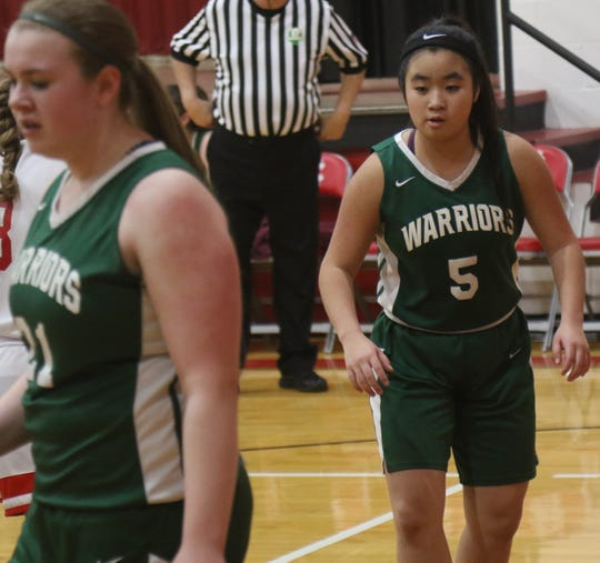 Community Christian's Maddy Lopp has been playing basketball for two years and is the daughter of the assistant athletic director.