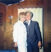 Bettye Berger with comedian and recording artist Brother Dave Gardner.