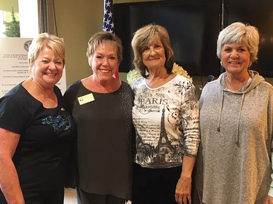Kiwanis Club of Marco Island welcomed two new members at the Jan. 9 meeting. Above: President Pat Hagedorn, Membership Chair Donna Niemczyk and new members Billie Maine and Jackie Schaefer.