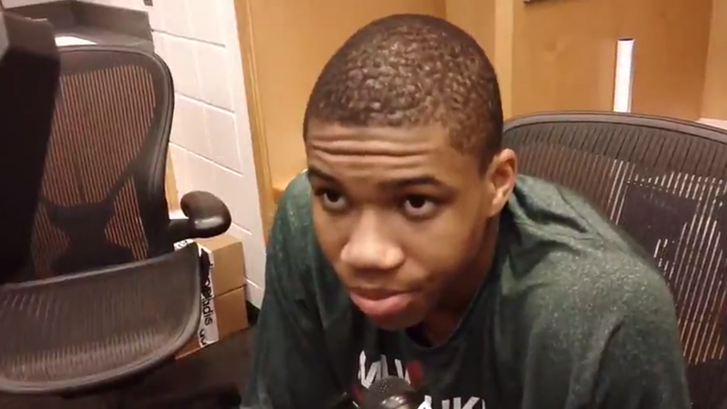Check out video of Giannis Antetokounmpo from his rookie year