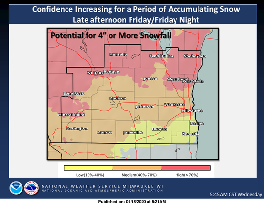 For now, the highest snow totals forecast for the weekend would be north of Milwaukee, but much uncertainty surrounds the storm.