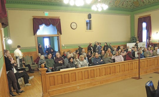 Dozens of people attended Wednesday's meeting of the Ozaukee County Board of Supervisors. Many spoke in favor of a nonbinding referendum on whether the state should adopt a nonpartisan procedure for redrawing voting maps. The board rejected the proposal 16-10