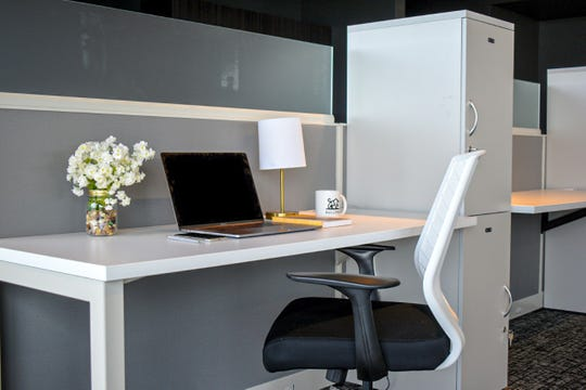 The Bullpen Coworking space at Ballpark Commons in Franklin has 15 workstations,which are available for $275 a month through a Dedicated Desk plan.