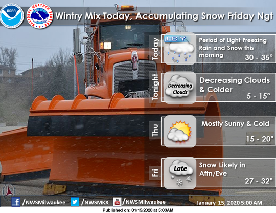 Roads across southern Wisconsin could become slippery on Wednesday morning.