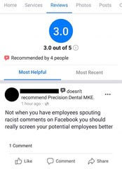"This disparaging review on the Precision Dental MKE Facebook page led to the firing of Robyn Polak, she says. Polak said she doesn't know the reviewer but heard they had ""trolled others before."""