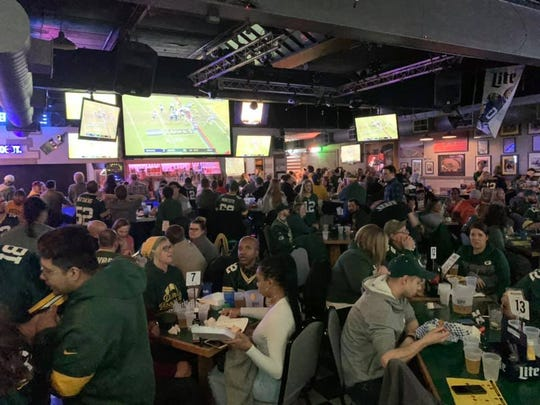 Packers fans watch a game at Kelly's Bleachers, 5218 W. Blue Mound Road.