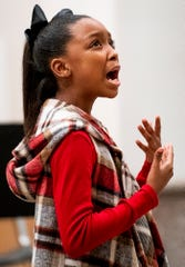 Dramatic performance as Montgomery Public Schools magnet school students perform in the Arising Arts Expo held at the Montgomery Museum of Fine Arts in Montgomery, Ala., on Tuesday evening January 14, 2020.