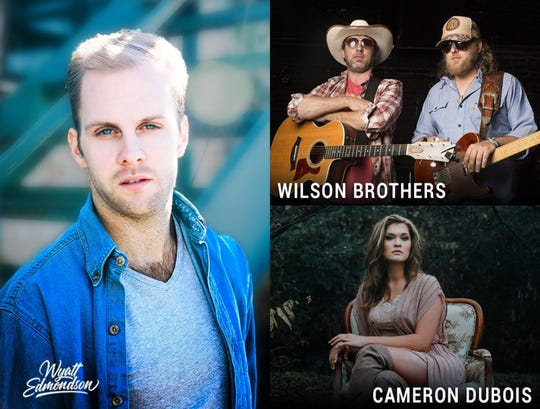 Wyatt Emondson, the Wilson Brothers and Cameron DuBois will perform Feb. 25 at the Capri Theatre in Montgomery.