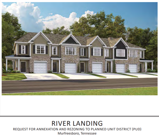 This rendering shows what the proposed River Landing subdivision could look like on Northwest  Broad Street near Roselawn cemetery.