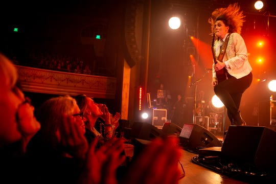 Brandi Carlile performs at the Ryman Auditorium in Nashville, Tenn., Tuesday, Jan. 14, 2020.